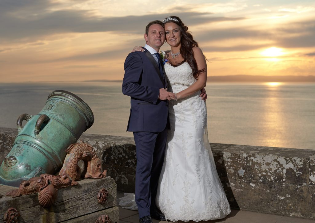 wedding culzean castle sunset video